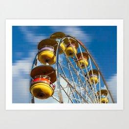 Ferris Wheel and Blue Skies Art Print