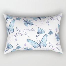 The Butterfly Effect - Blue Rectangular Pillow