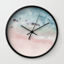 Ocean Pink Blush Wall Clock