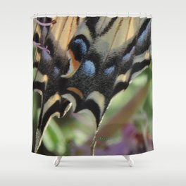 Detail of a Swallowtail Shower Curtain