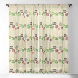 Sweet lollipop Sheer Curtain