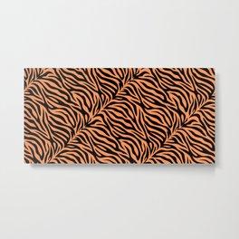 Modern tiger skin illustration pattern. Animal print background Metal Print