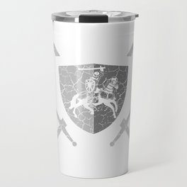 Shield Castle Lover Great gift idea for every knight and Fairy tale fan for birthday T-shirt Design Travel Mug