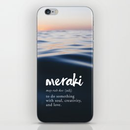 Meraki Word Nerd Definition - Purple Watercolor iPhone Skin