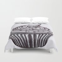 cupcake Duvet Covers featuring Cupcake by AGalaxyWithin