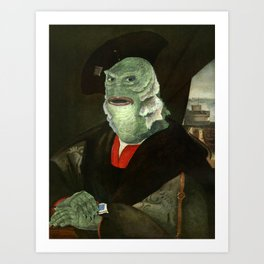 Creature from the Italian Renaissance: Giuliano De Medici meets Black Lagoon Kunstdrucke