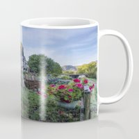 cafe Mugs featuring Lakeside Cafe by Ian Mitchell