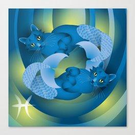 pisces ZodiaCat Canvas Print