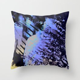 Splatter-Portrait Throw Pillow