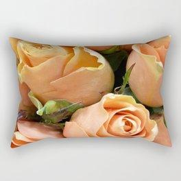 Peach Roses Rectangular Pillow