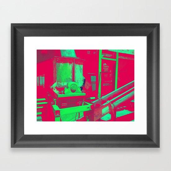 Factory Red Framed Art Print