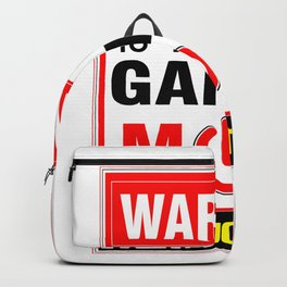 18 Year Old in Gaming Mode Video Game Gamer Backpack