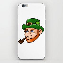 Leprechaun Face Smoking Pipe iPhone Skin
