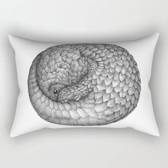 The Infinite Pangolin Rectangular Pillow
