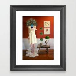 Peacocklady Framed Art Print