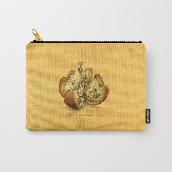 Steampunk Orange  (color option) Carry-All Pouch