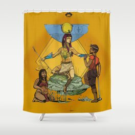 Hathor - Ancient Egyptian Goddess of Fertility Shower Curtain