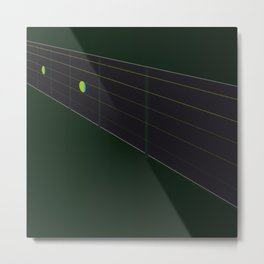 Fingerboard Metal Print