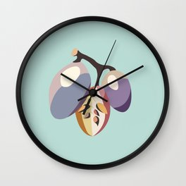 grape fruit illustration Wall Clock