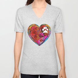 Dog Art - Puppy Love 2 - Sharon Cummings Unisex V-Neck