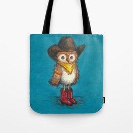 Cowboy Owl Tote Bag
