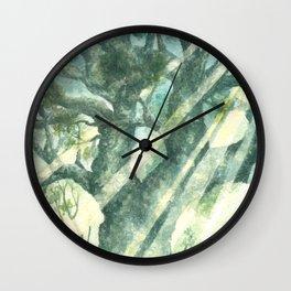 Acuarella wood Wall Clock