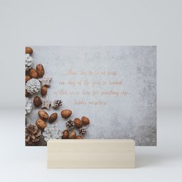 We're here for something else - Christmas Collection Mini Art Print