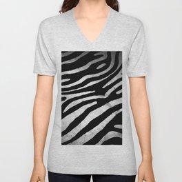 Zebra rug decor Unisex V-Neck