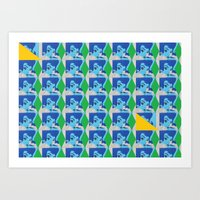 Blue & Yellow Lady - Paris, 2015 Art Print