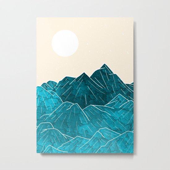 Mountains under the white sun Metal Print