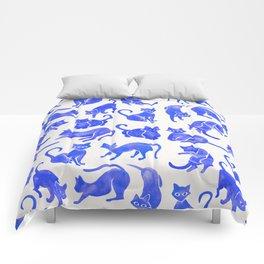 Cat Positions – Blue Palette Comforters
