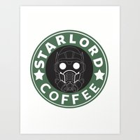 starlord Art Prints featuring Starlord coffee by withoutwax94