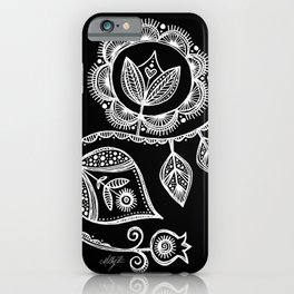 White Flower 15 iPhone Case