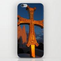 Cross Outside of St. Barbara Greek Orthodox Church, Santa Barbara, CA iPhone & iPod Skin