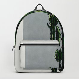 The Cactus on Grey Backpack