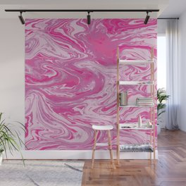 Hot Pink Marbles Wall Mural