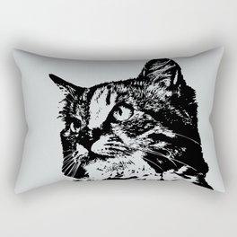 Cat Face Art Rectangular Pillow