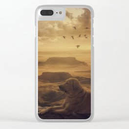 Amazing view at sunset Clear iPhone Case