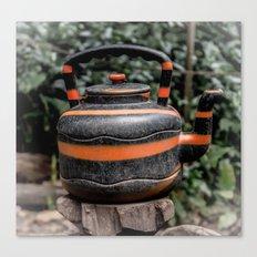 Jungle Teapot Canvas Print