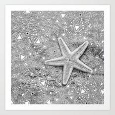 pow wow star Art Print