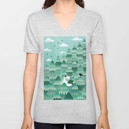 Tree Hugger (Spring & Summer version) Unisex V-Neck