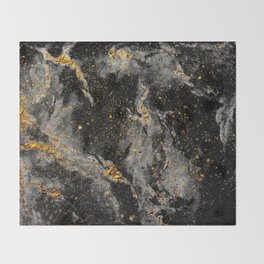 Galaxy (black gold) Throw Blanket
