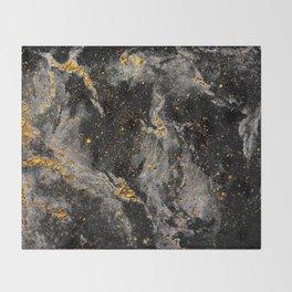 Galaxy (black gold) Throw Blanket