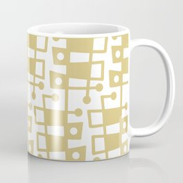 Mid Century Modern Abstract 213 Gold Coffee Mug