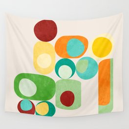 Geometric mid century modern summer shapes 2 Wall Tapestry
