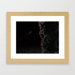 NEON JELLYFISH Framed Art Print