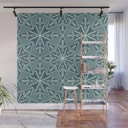 Pine & mint green pysanky lace pattern Wall Mural