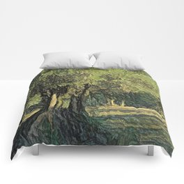 Olives in Provence Comforters