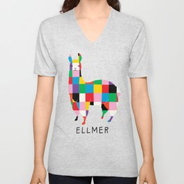 Ellmer in Blue Unisex V-Neck