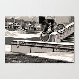 Wheelie Master  - BMX Biker Canvas Print